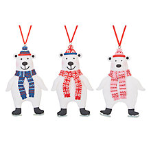 Buy John Lewis Grand Tour Polar Bear Tree Decoration, Assorted Designs Online at johnlewis.com