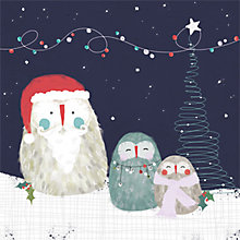 Buy Art File Festive Owls Charity Christmas Cards, Pack of 6 Online at johnlewis.com