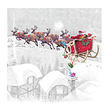 Buy Paperhouse Delivering Gifts Charity Christmas Cards, Pack of 6 Online at johnlewis.com