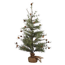 Buy John Lewis Snowshill Glitter Frosted Pine Tree Online at johnlewis.com