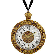 Buy John Lewis Ruskin House Clock Bauble, Gold Online at johnlewis.com