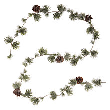 Buy John Lewis Snowshill Glittered Pine Garland Online at johnlewis.com