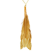 Buy John Lewis Shangri-La Feather Tree Decoration, Gold Online at johnlewis.com