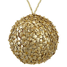 Buy John Lewis Ruskin House Petal Sequin Bauble, Gold Online at johnlewis.com