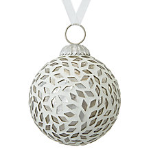 Buy John Lewis Snowshill Diamond Mosaic Bauble Online at johnlewis.com