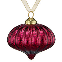 Buy John Lewis Ruskin House Ridged Onion Bauble, Cranberry Online at johnlewis.com