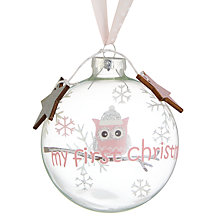 Buy John Lewis Baby First Christmas Bauble Online at johnlewis.com