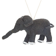 Buy John Lewis Grand Tour Felt Elephant Tree Decoration Online at johnlewis.com