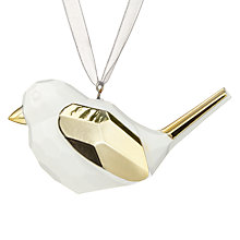 Buy John Lewis Helsinki Bird Tree Decoration, Gold / White Online at johnlewis.com