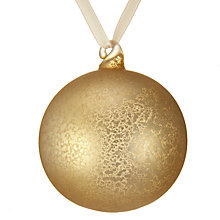 Buy John Lewis Snowshill Crackle Bauble, Gold Online at johnlewis.com