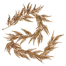 Buy John Lewis Shangri-La Mini Fern Garland, Gold Glitter Online at johnlewis.com