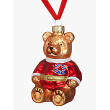 Buy John Lewis Tourism Festive Teddy Bauble Online at johnlewis.com