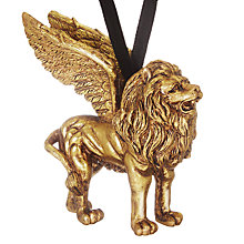 Buy John Lewis Ruskin House Griffon Lion Tree Decoration, Gold Online at johnlewis.com