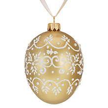 Buy John Lewis Ostravia Faberge Egg Bauble, Gold Online at johnlewis.com