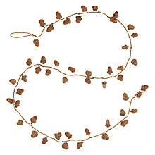 Buy John Lewis Ruskin House Glitter & Acorn Garland, Gold Online at johnlewis.com