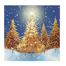 Buy Medici Golden Forest Charity Christmas Cards, Pack of 8 Online at johnlewis.com