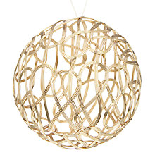 Buy John Lewis Helsinki Weave Bauble, Gold Online at johnlewis.com
