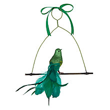 Buy John Lewis Shangri-La Bird Tree Decoration, Green Online at johnlewis.com
