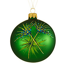 Buy John Lewis Shangri-La Papyrus Leaf Bauble, Green Online at johnlewis.com