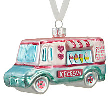 Buy John Lewis Ostravia Ice-cream Van Bauble Online at johnlewis.com