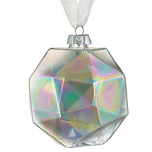 Buy John Lewis Helsinki Iridescent Geometric Bauble Online at johnlewis.com