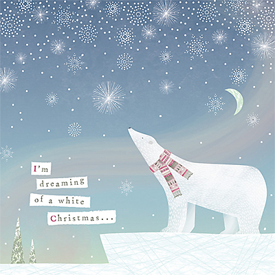 Product photo of Art file i m dreaming of a white christmas charity christmas cards pack of 6