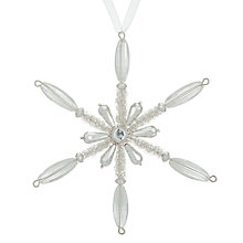 Buy John Lewis Snowshill Jewelled Snowflake Bauble Online at johnlewis.com
