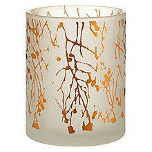 Buy John Lewis Helsinki Twig Tealight Holder, Copper Online at johnlewis.com
