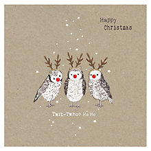 Buy Hammond Gower Kraft Owls Charity Christmas Cards, Pack of 5 Online at johnlewis.com