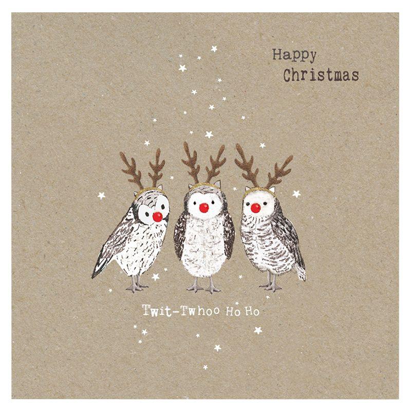 Hammond Gower Hammond Gower Kraft Owls Charity Christmas Cards, Pack of 5