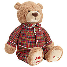 Buy John Lewis Grand Tour Large Lewis Bear In Pyjamas, H51cm Online at johnlewis.com