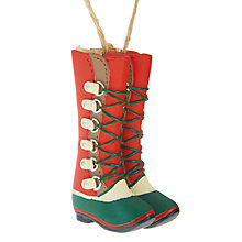 Buy John Lewis Chamonix Lace Up Winter Boots Tree Decoration Online at johnlewis.com