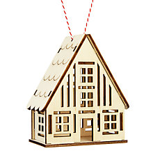 Buy John Lewis Chamonix Lasercut Wooden House Tree Decoration Online at johnlewis.com