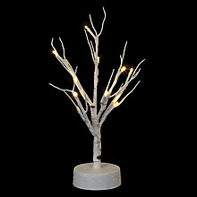 Buy John Lewis Chamonix LED White Birch Mini Tree With Timer Online at johnlewis.com