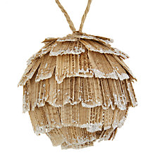 Buy John Lewis Snowshill Wooden Pine Cone Bauble, Large Online at johnlewis.com