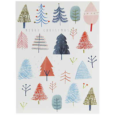 Product photo of John lewis merry christmas trees charity christmas cards pack of 6