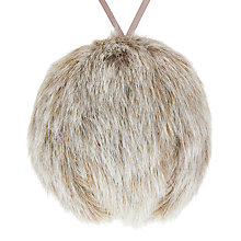 Buy John Lewis Helsinki Fur Bauble, Grey Online at johnlewis.com