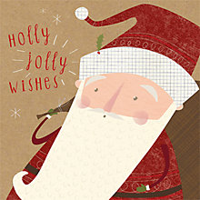 Buy Art File Holly Jolly Wishes Kraft Santa Charity Christmas Cards, Pack of 6 Online at johnlewis.com