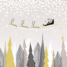 Buy Art File Grey Santa Over The Forest Charity Christmas Cards, Pack of 6 Online at johnlewis.com