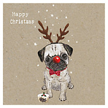 Buy Hammond Gower Kraft Pug Charity Christmas Cards, Pack of 5 Online at johnlewis.com