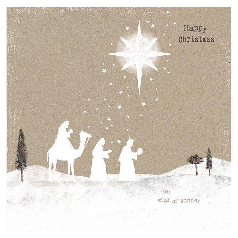 Hammond Gower Hammond Gower Kraft Oh Star Of Wonder Charity Christmas Cards, Pack of 5