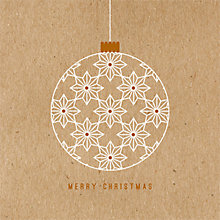 Buy Art File Kraft Bauble Charity Christmas Cards, Pack of 6 Online at johnlewis.com