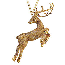 Buy John Lewis Ruskin House Leaping Stag Bauble Online at johnlewis.com