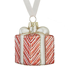 Buy John Lewis Ostravia Little Present Bauble, Pink Online at johnlewis.com