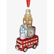 Buy John Lewis Tourism London Scene Stack Bauble Online at johnlewis.com