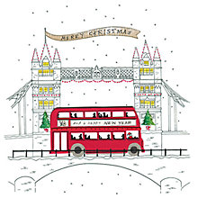 Buy Artfile London Bus Scene Charity Christmas Cards, Pack of 6 Online at johnlewis.com