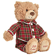 Buy Jellycat Grand Tour Medium Lewis Bear In Pyjamas, H27cm Online at johnlewis.com