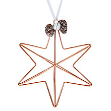 Buy John Lewis Helsinki Metal Star With Pine Cones Bauble Online at johnlewis.com