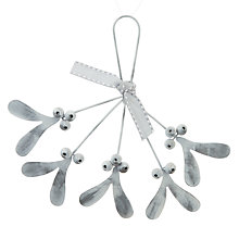 Buy John Lewis Snowshill Metal Mistletoe Tree Decoration Online at johnlewis.com
