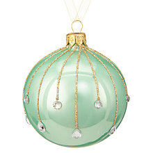 Buy John Lewis Ostravia Gem Droplet Bauble, Mint Online at johnlewis.com